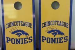 Chincoteague High school cornhole boards