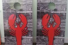 Lobster Cornhole boards