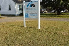PVC Post and Panel sign AFG